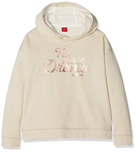 s.Oliver Junior Mädchen 73.810.41.7874 Sweatshirt, Beige (Ecru Melange 02w4), 176 (Herstellergröße: XL/REG) Metallic-print-sweatshirt