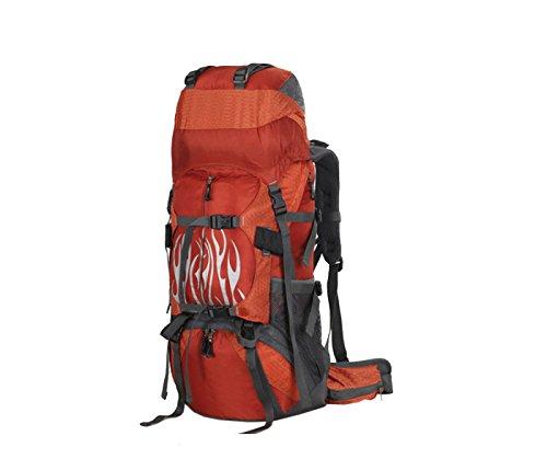 Yy.f Wandern Rucksack 50L Wasserdicht Rucksack Rucksack Outdoor-Sport Tag Rucksack Markise Bergsteigen Angeln Reise-Bike. Mehrfarbig Orange