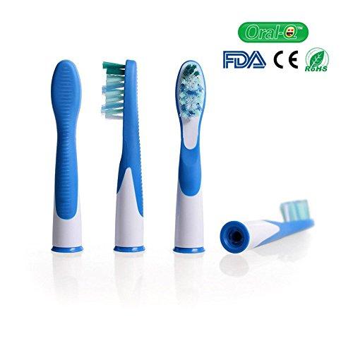 oral-q Ersatz Bürstenköpfe Kompatibel mit Elektrische Zahnbürste Oral F Sonic (SR18–4), 4(1Pack)