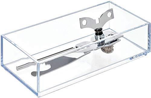 iDesign range couvert, petit casier rangement plastique, rangement tiroir pour couverts et divers ustensiles, transparent