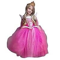 Rawdah Abito Bambino Ragazza Natale Partito Compleanno Bambini Ragazza  Principessa Fantasia Vestite Natale Halloween Costume (Rosa 9be2dcfc8e6