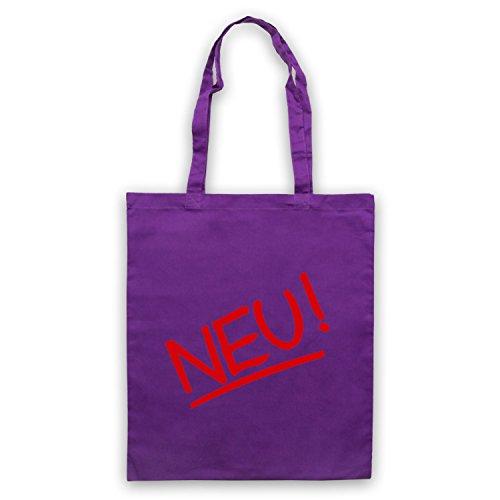 Inspiriert durch Neu Band Logo Inoffiziell Umhangetaschen Violett
