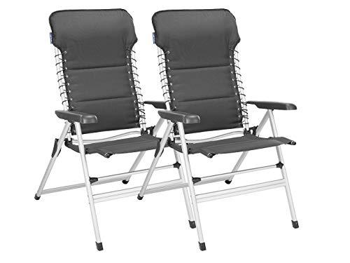 2er Set stabile XXL Campingstühle gepolstert - klappbar & leicht - Relaxsessel mit Komfort -