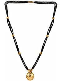 Parinaaz Traditional Jewellery Gold Plated Wati Mangalsutra Pendant For Girls