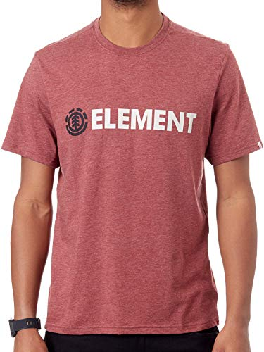 Element Blazin Hombre Camiseta T-Shirt Oxblood Heather L