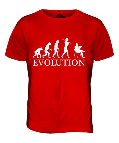 CandyMix Lettura Evoluzione Umana T-Shirt da Uomo Maglietta Rosso