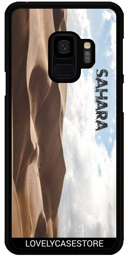 Lovelycasestore Hülle für Samsung Galaxy S9 Plus (SM-G965) - Wüste Sahara Sky Blue Arid Dürre Düne Oase