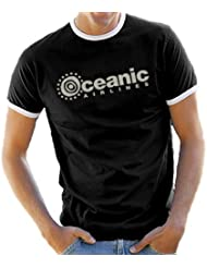 Oceanic Airlines - Lost Dharma Ringer / Contrast T-Shirt S-XXL diff. Color