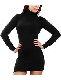 Toocool - Maglione Donna Mini Abito Vestito Tricot Collo Alto Dolcevita  Aderente 100121 de9e094432a
