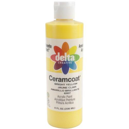 Plaid Delta Ceramcoat Peinture Acrylique 8oz-Bright Jaune - Transparent, d'autres, Multicolore