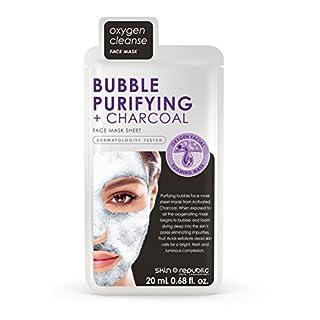 SKIN REPUBLIC Bubble Purifying + Charcoal Gesichts-Tuchmaske 20ml