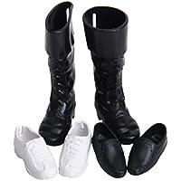 3 Pares de Zapatos de Plástico para Casa de Muñecas