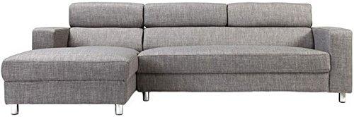 FabHomeDecor Mini FHD173 Five Seater Sofa (Grey)