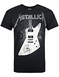 Official Metallica Papa Het Mens Black Crew Neck T-Shirt-Medium