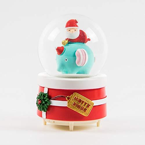 WYDM Mouse House Geschenke Weihnachtsschnee-Kugel-Spieluhr Kristallkugel Musical Jingle Bells Sankt und Schneemann Dekoration und Geschenk (Color : D)