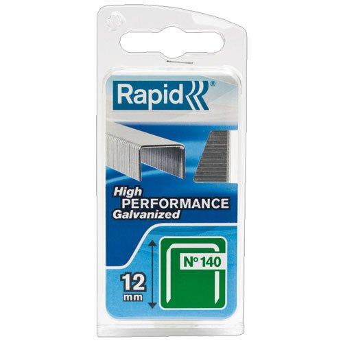 Rapid, 40109516, Agrafes N°140, Longueur 12mm, 648 pièces, Pour les travaux de construction et d'isolation, Fil galvanisé, Haute performance