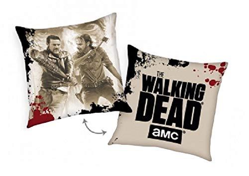 Unbekannt The Walking Dead Kissen 40x40 cm Nick & Negan beige Dekokissen Wende mit Füllung