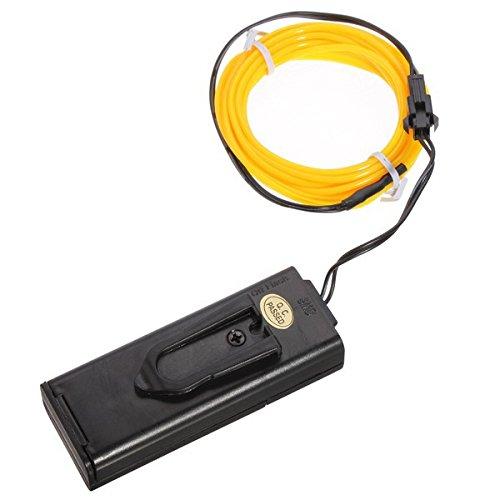 1m 3v Flexible Neon El Wire Light-dance-party Dekoration-licht-batteriebetriebene Controller, Gelb