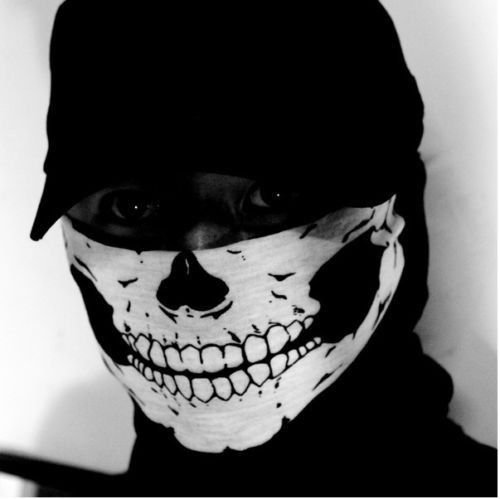 New Skeleton Ghost Skull Face Mask Biker Balaclava Call of Duty COD Costume Game by OnairMall