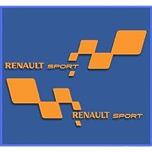 PEGATINAS RENAULT SPORT RS 33 DR1018 VINILO ADESIVI DECAL AUFKLEBER КЛЕЙ STICKERS CAR VOITURE SPORT RACING (NARANJA)