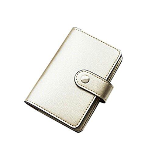 Schuh-speicher-bank (sunnymi Fashion Top Leder Große Kapazität ★ Kartentasche ★Candy Color Bank Kreditkarten/24 Seiten 2 Führerschein (Gold))
