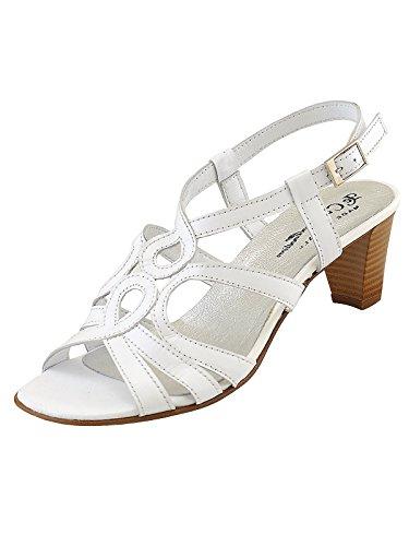 Marion Spath Damen 24-05-11 Glattleder City-Sandalette Weiß