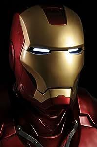 IRON MAN 3 Casque lumineux en fibre de verre à visage ouvert pour déguisement Cosplay