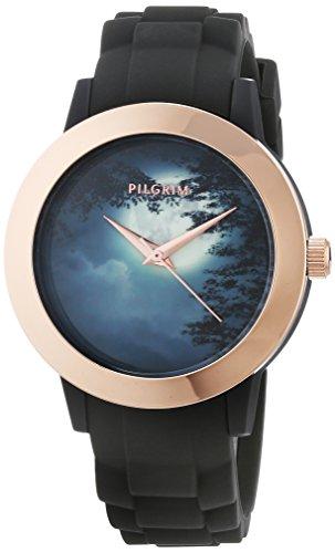 Pilgrim Damen Analog Quarz Uhr mit Silikon Armband 701744110