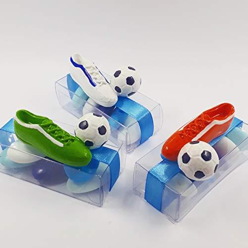 Bombsindy scatoline trasparenti scarpetta calcio, portaconfetti segnaposto