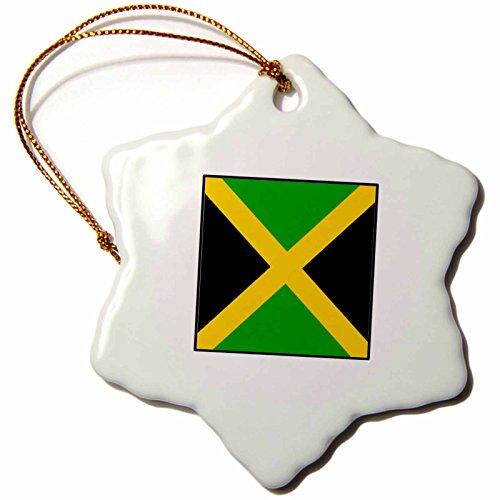 _ 1Foto von Jamaika Flagge Button Schneeflocke Ornament, Porzellan, 3Zoll (Fotos Von Jamaika)