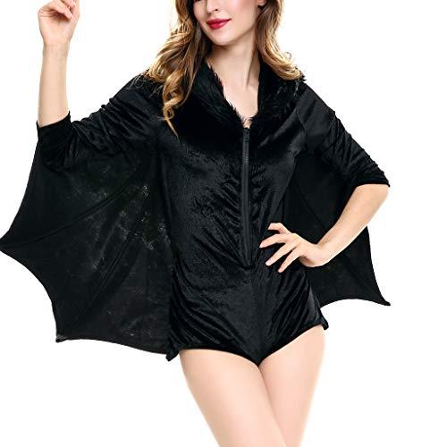 kolila Halloween Damen Plus Size Fledermausflügel Ärmel T Shirt Lässig Herbst Winter Flowy Tops Halloween Kostüme (Halloween Kostüme Damen 2019 Beliebte Für)