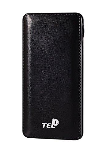 Slim Powerbank mit starken 12000 mAh in schwarz für Wiko Lenny 5 extra flach und handlich kompakt externer Akku aufladen von Smartphone Tablet und Netbook möglich