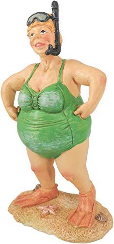 Dänemark Shop Dänische Sommerdame Grün mit Schnorchel Keramikmodell