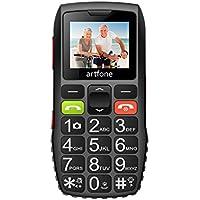 artfone Seniorenhandy ohne Vertrag   Dual SIM Handy mit Notruftaste   Rentner Handy große Tasten   2G GSM Handy   Großtastenhandy mit Ladegerät und Kamera 1400 mAh Akku Lange Standby-Zeit