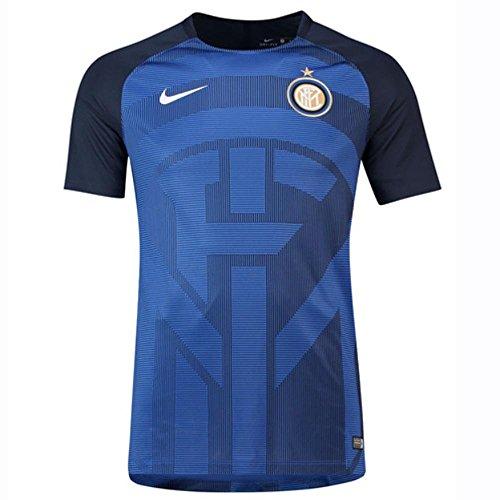 Nike inter training jsy, maglia da calcio uomo, game royal/obsidian/bianco, xl