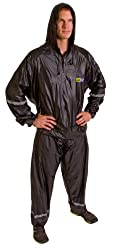 GoFit Hooded Thermal 2-Piece Training Suit, Black, Small/Medium,Small/Medium