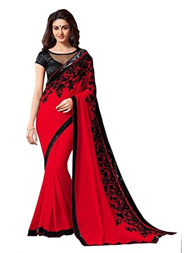 Navabi Export Latest Design New Collection Silk Sarees with Blouse Piece for Women, Red