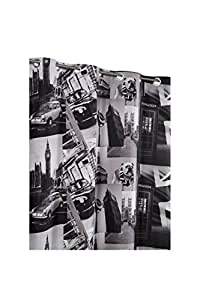 Rideau Occultant 135 x 240 cm Imprime Design City London