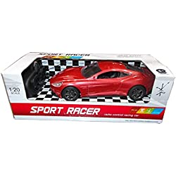 Kotak Sales Kids Racing Sports Car Vehicle with LED Lights Remote Control 1:20 Scale (8inch Size) - RED