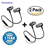 Shaarq (Pack of 2) Magnetic Bluetooth Attractive Headphone with Noise Isolation and Hands-Free