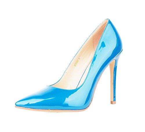 Niuerte Niuertewife - Une Femme À Col Bas Blue Patent