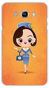 Crazy Beta CARTOON GIRL DESIGN Printed Back Cover for Samsung Galaxy J5 2016
