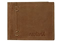 Neoterix Raw Look Beige Genuine Leather Wallet