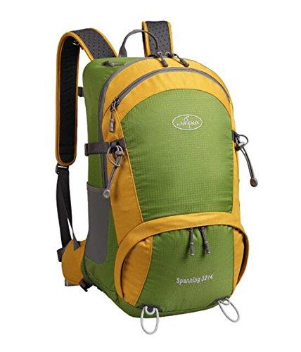 all'aperto Maschio borse trekking alpinismo viaggio zaino donne pacchetti viaggio ( Colore : Giallo , dimensioni : 32+4L ) Verde