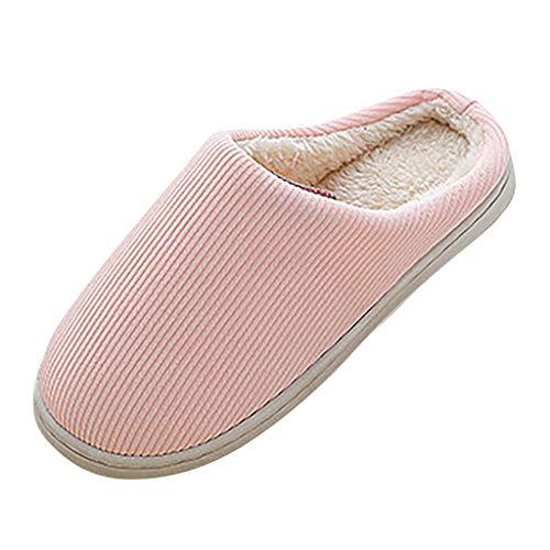 Watopi Winter Baumwolle Pantoffeln für Unisex Flauschige Kuschelig Hausschuhe Super Warme Plüsch Hausschuhe und Indoor Weiche rutschfeste Slippers