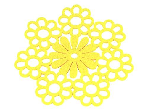 Filz Untersetzer Ø 13cm gelb 8 Stück (Acht Sideboard)