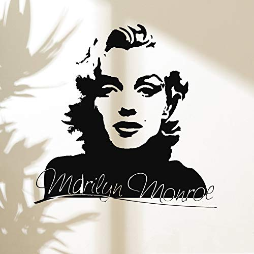 tzxdbh Marilyn Monroe Art Wall Decal Vinyl Aufkleber Wandbild Beauty Salon Schlafzimmer Dekor leicht abnehmbar Made in USA Post 57x57cm