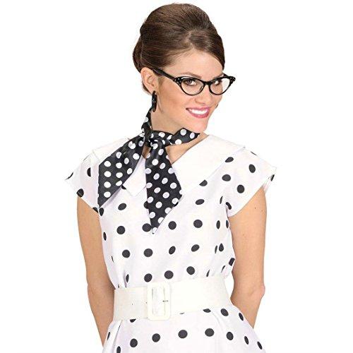 Pañuelo para el cuello de raso con puntos lunares rockabilly años 50 accesorios vestuario