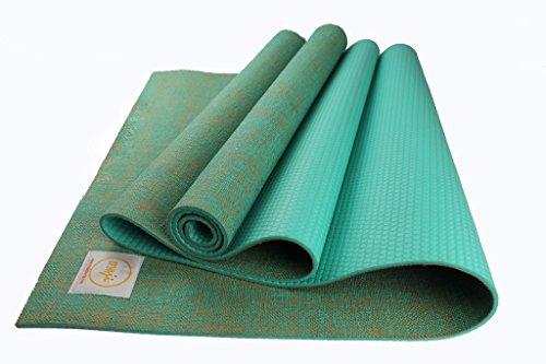 Maji Sports Yogamatte Jute, türkis, 24 x 72 x 5mm