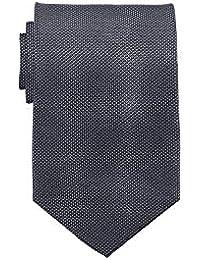 Übergrößen Krawatte schwarz/grau in Einheitsgröße 168cm, 100% Seide